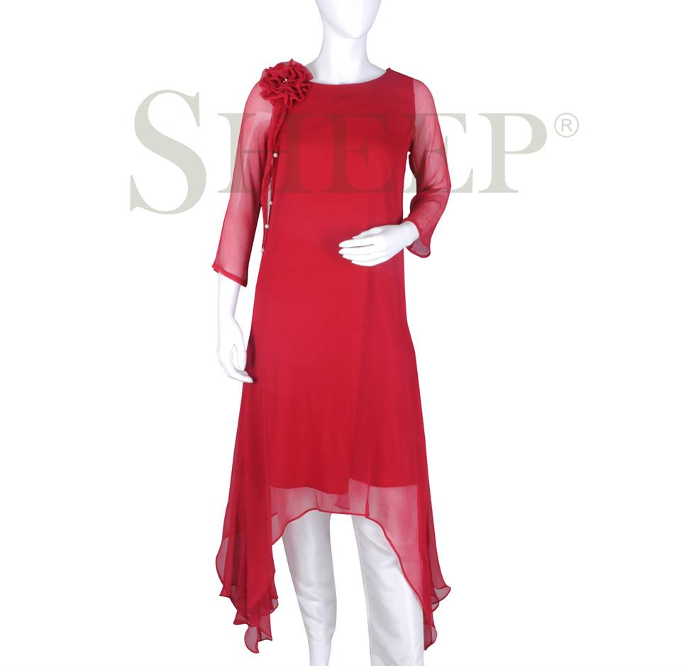 Latest Designs of Casual Formal Kurtis Fancy Embroidered Collection by SHEEP 2015-2016 (24)