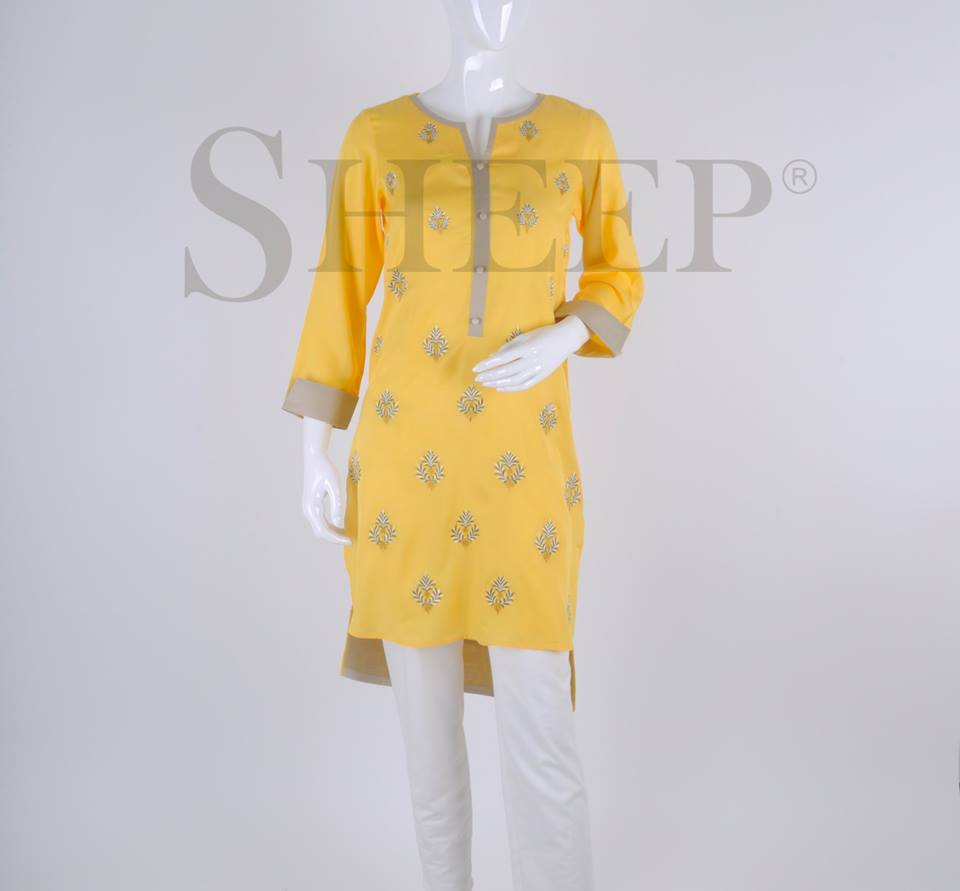 Latest Designs of Casual Formal Kurtis Fancy Embroidered Collection by SHEEP 2015-2016 (26)
