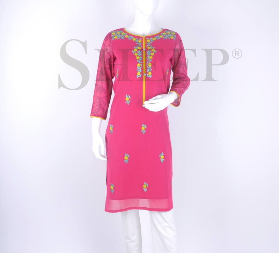 Latest Designs of Casual Formal Kurtis Fancy Embroidered Collection by SHEEP 2015-2016 (3)