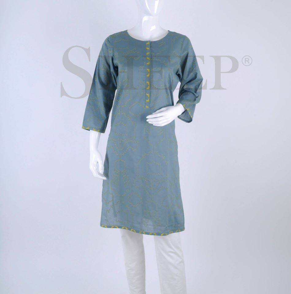 Latest Designs of Casual Formal Kurtis Fancy Embroidered Collection by SHEEP 2015-2016 (5)