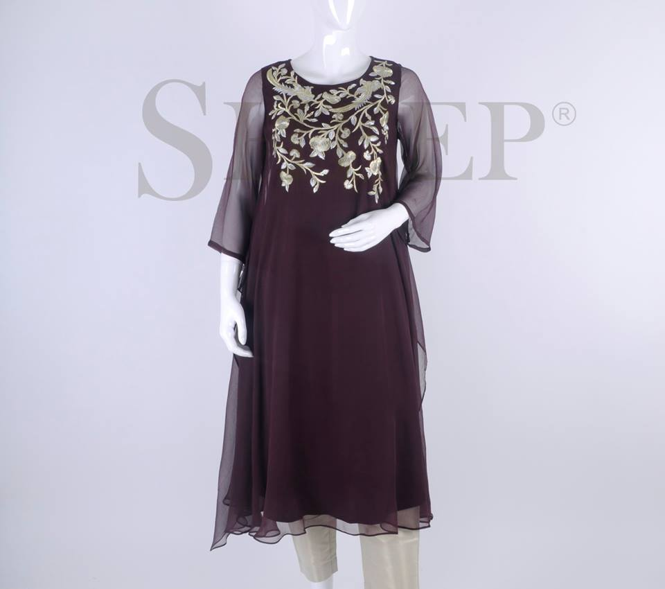 Latest Designs of Casual Formal Kurtis Fancy Embroidered Collection by SHEEP 2015-2016 (9)