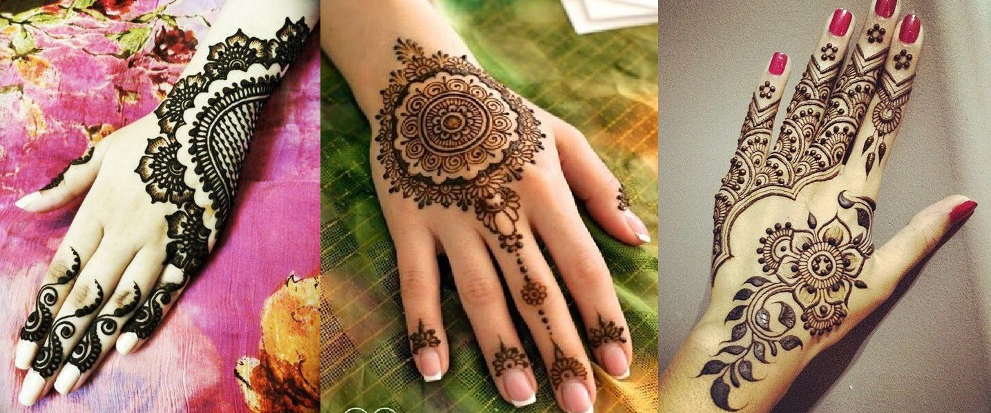 Latest Eid Mehndi Heena Designs for Hands Feet Special Collection 2015-201