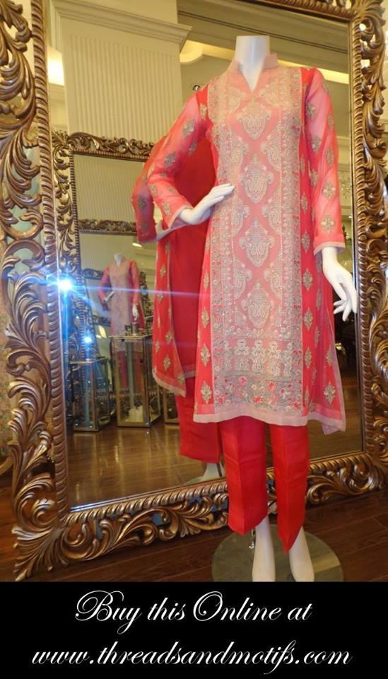 Latest Eid festival Fancy Summer Dresses By Threads & Motifs Formal Collection 2015-2016 (10)