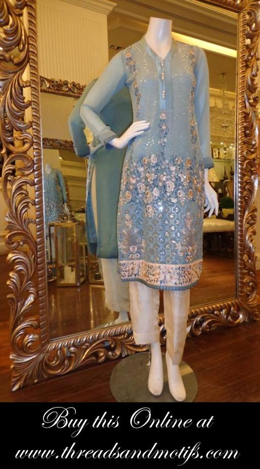 Latest Eid festival Fancy Summer Dresses By Threads & Motifs Formal Collection 2015-2016 (16)