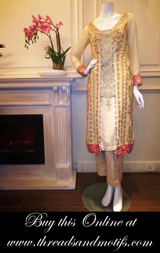 Latest Eid festival Fancy Summer Dresses By Threads & Motifs Formal Collection 2015-2016 (19)