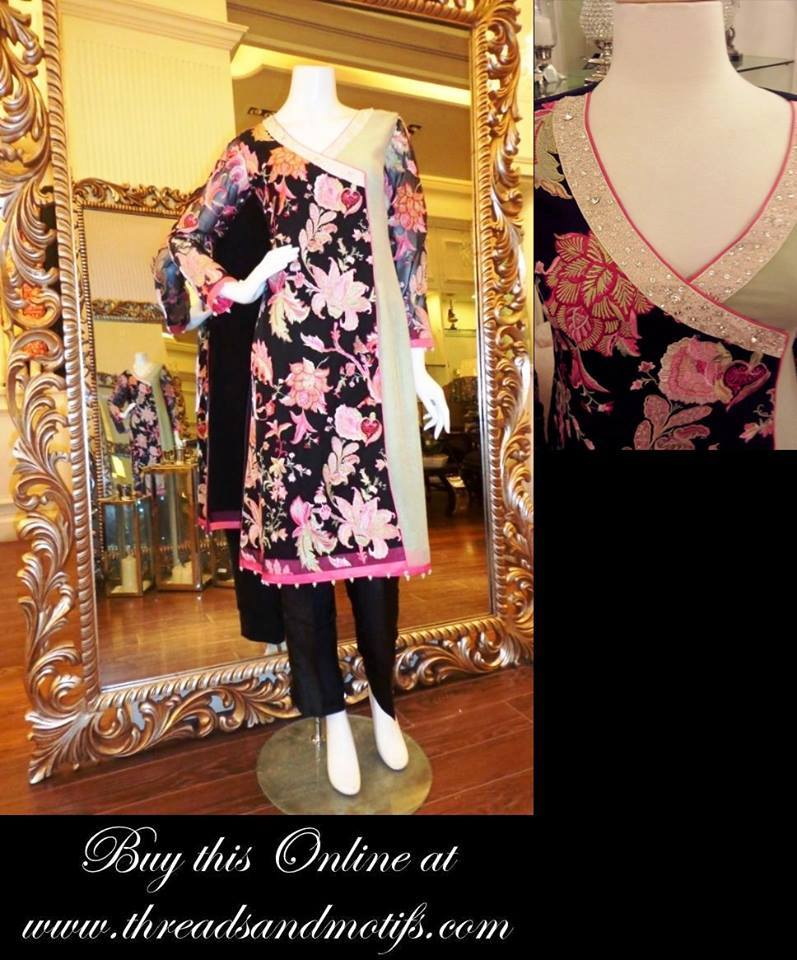 Latest Eid festival Fancy Summer Dresses By Threads & Motifs Formal Collection 2015-2016 (3)