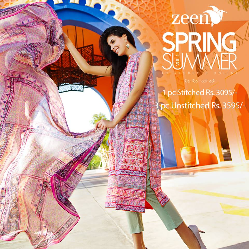 Latest Lawn Suits Zeen by Cambridge Spring Summer Collection 2015-2016 with Prices (5)