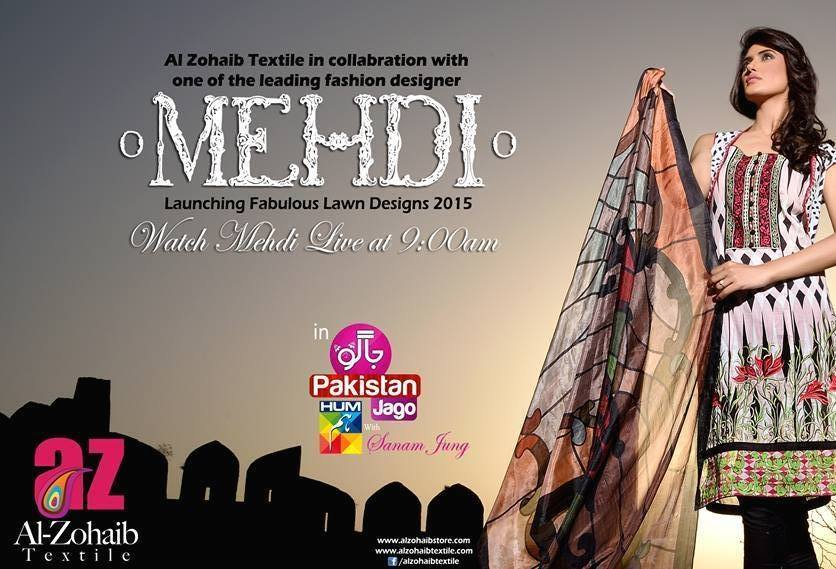 Mehdi Lawn Designs Spring Summer Lawn Collection 2015-2016 by Al Zohaib Textiles (15)