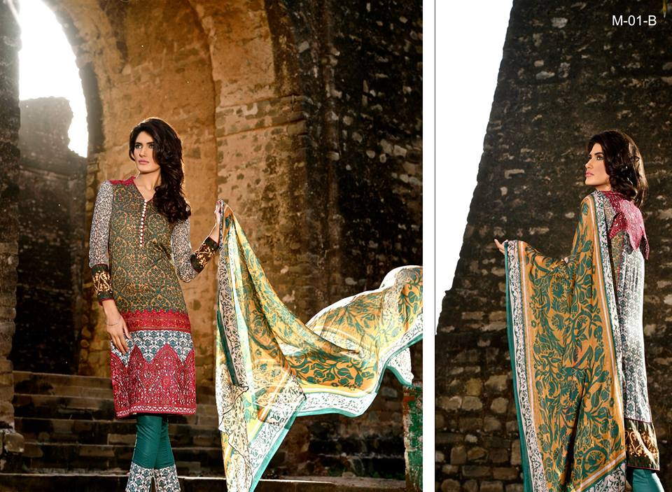 Mehdi Lawn Designs Spring Summer Lawn Collection 2015-2016 by Al Zohaib Textiles (8)
