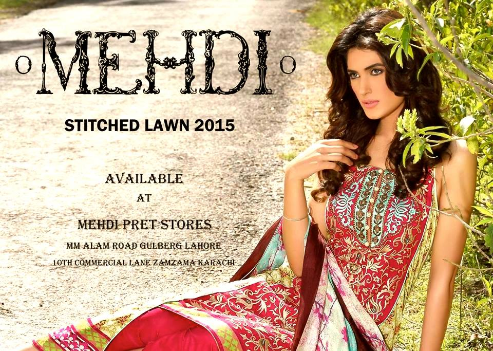 Mehdi Lawn Designs Spring Summer Lawn Collection 2015-2016 by Al Zohaib Textiles