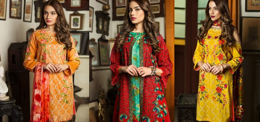 Nimsay Luxury Summer Embroidered Lawn Suits Collection 2018-19