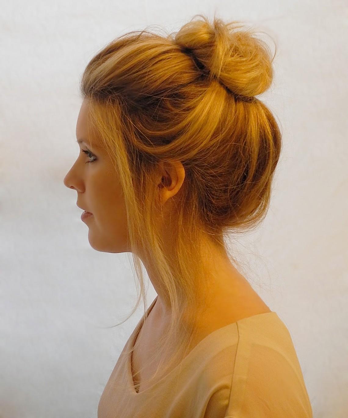 Прически на длинные волосы пучок и хвост