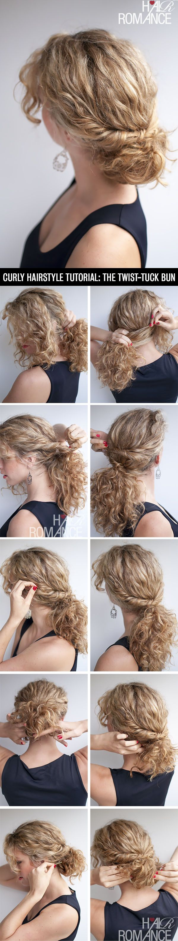 Tuck & Twist style buns tutorial