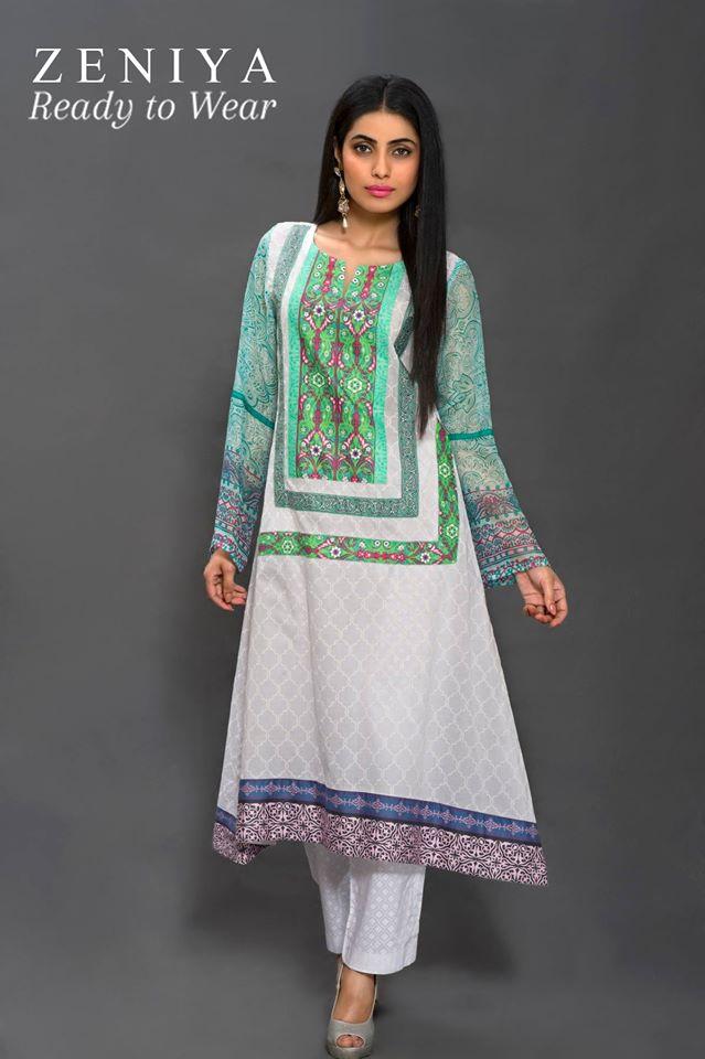 Zeniya Lawn by Deepak Perwani Summer Spring Ready To Wear Dresses Collection 2015 (1)