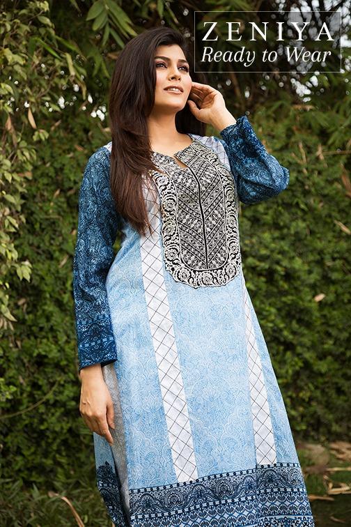 Zeniya Lawn by Deepak Perwani Summer Spring Ready To Wear Dresses Collection 2015 (10)