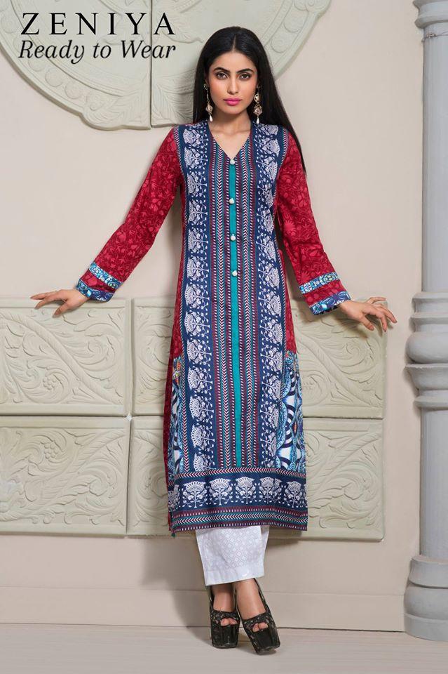 Zeniya Lawn by Deepak Perwani Summer Spring Ready To Wear Dresses Collection 2015 (11)