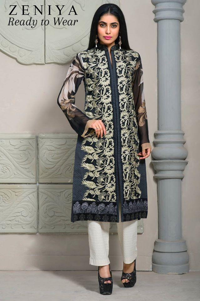 Zeniya Lawn by Deepak Perwani Summer Spring Ready To Wear Dresses Collection 2015 (12)