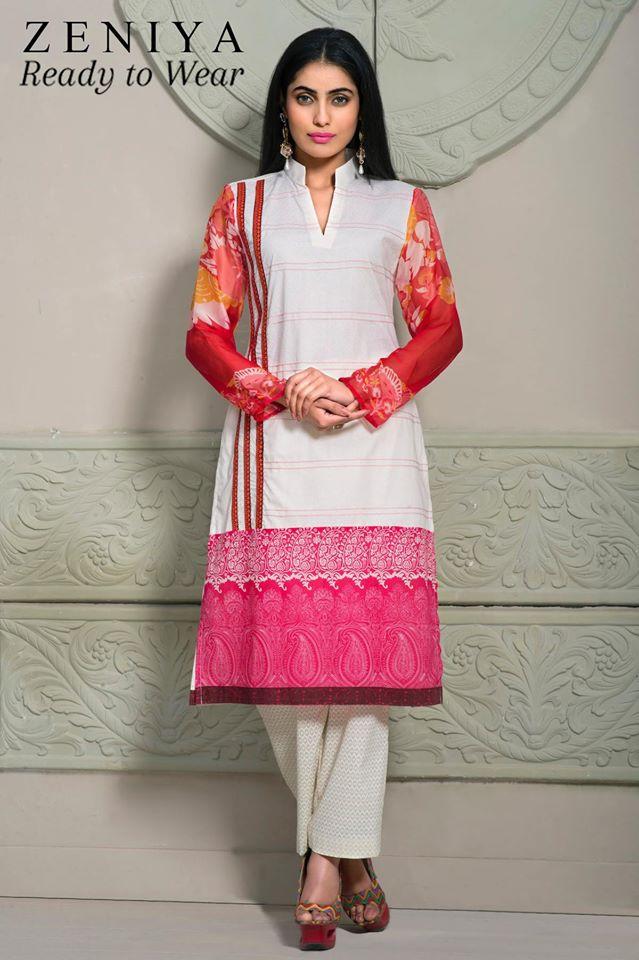 Zeniya Lawn by Deepak Perwani Summer Spring Ready To Wear Dresses Collection 2015 (2)