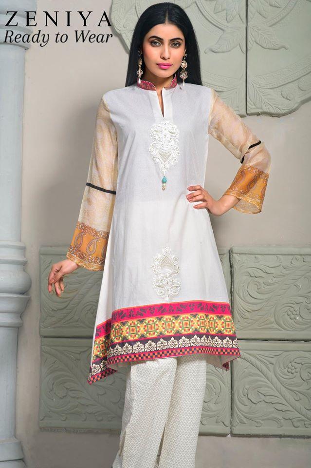 Zeniya Lawn by Deepak Perwani Summer Spring Ready To Wear Dresses Collection 2015 (4)