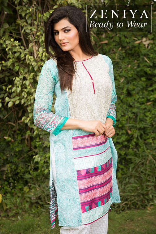 Zeniya Lawn by Deepak Perwani Summer Spring Ready To Wear Dresses Collection 2015 (5)