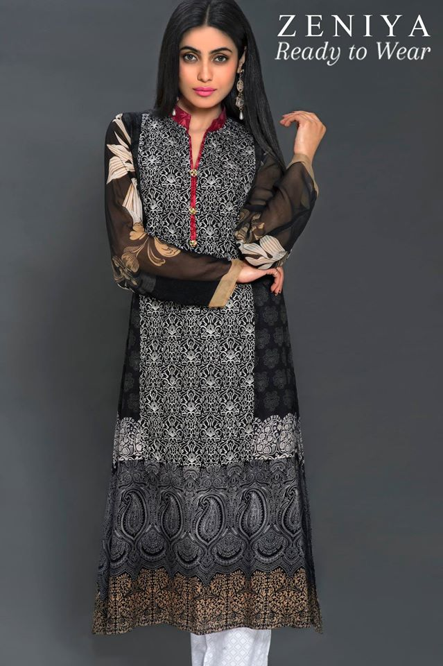 Zeniya Lawn by Deepak Perwani Summer Spring Ready To Wear Dresses Collection 2015 (6)