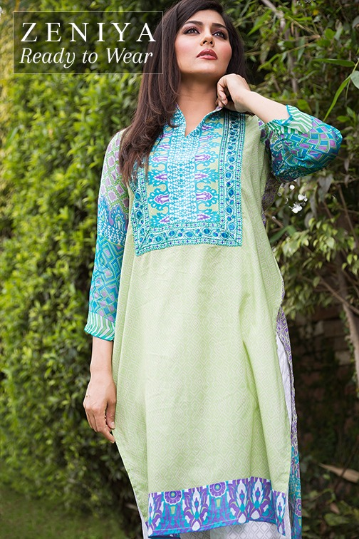 Zeniya Lawn by Deepak Perwani Summer Spring Ready To Wear Dresses Collection 2015 (8)