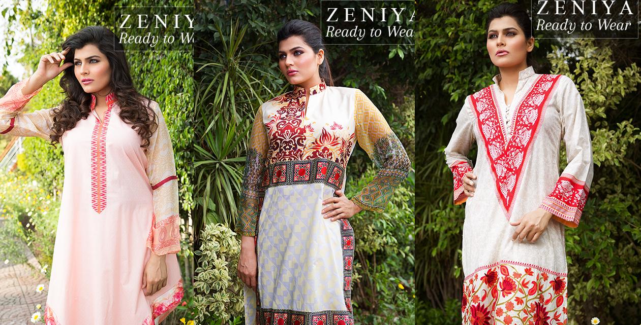 Zeniya Lawn by Deepak Perwani Summer Spring Ready To Wear Dresses Collection 2015