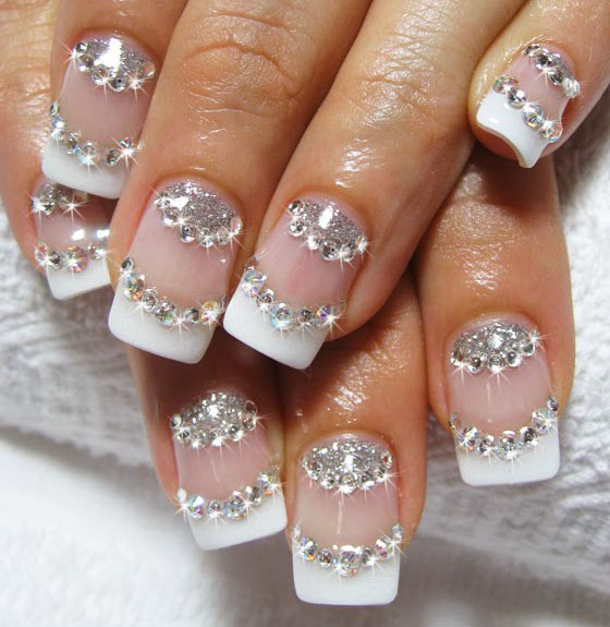 DIY Nail Art Tutorials Rhinestones Designs Step By Step with Pictures