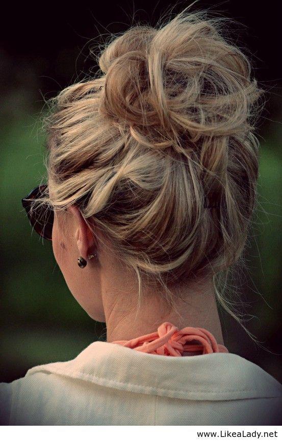 messy bun hairstyles 2