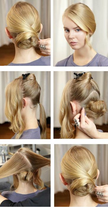 sleek bun tutorial