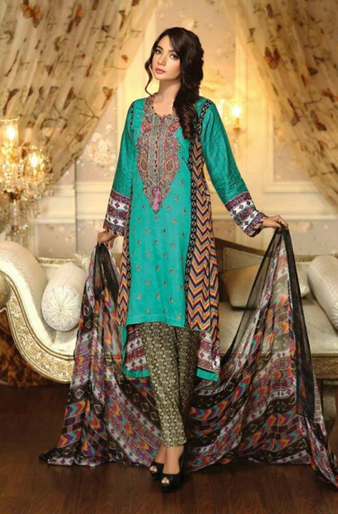 Ayesha chottani summer eid wear collection 2015 by Shariq textiles (1)