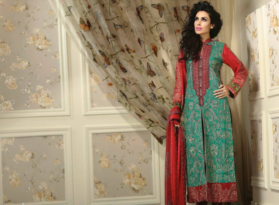 Ayesha chottani summer eid wear collection 2015 by Shariq textiles (10)