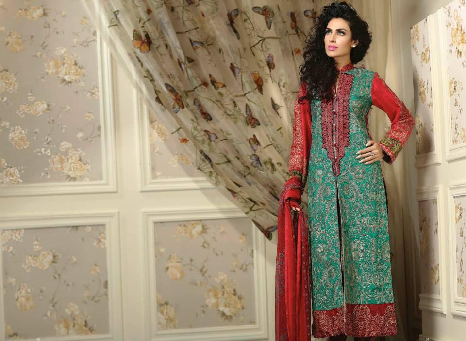 Ayesha chottani summer eid wear collection 2015 by Shariq textiles (10)