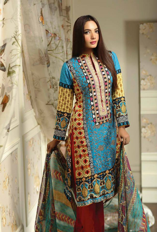 Ayesha chottani summer eid wear collection 2015 by Shariq textiles (18)