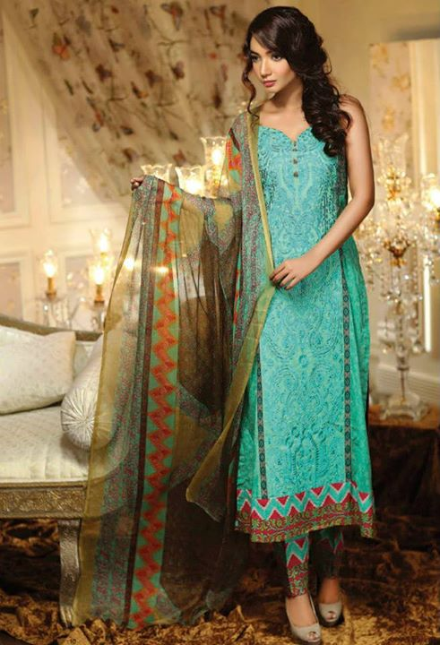 Ayesha chottani summer eid wear collection 2015 by Shariq textiles (2)