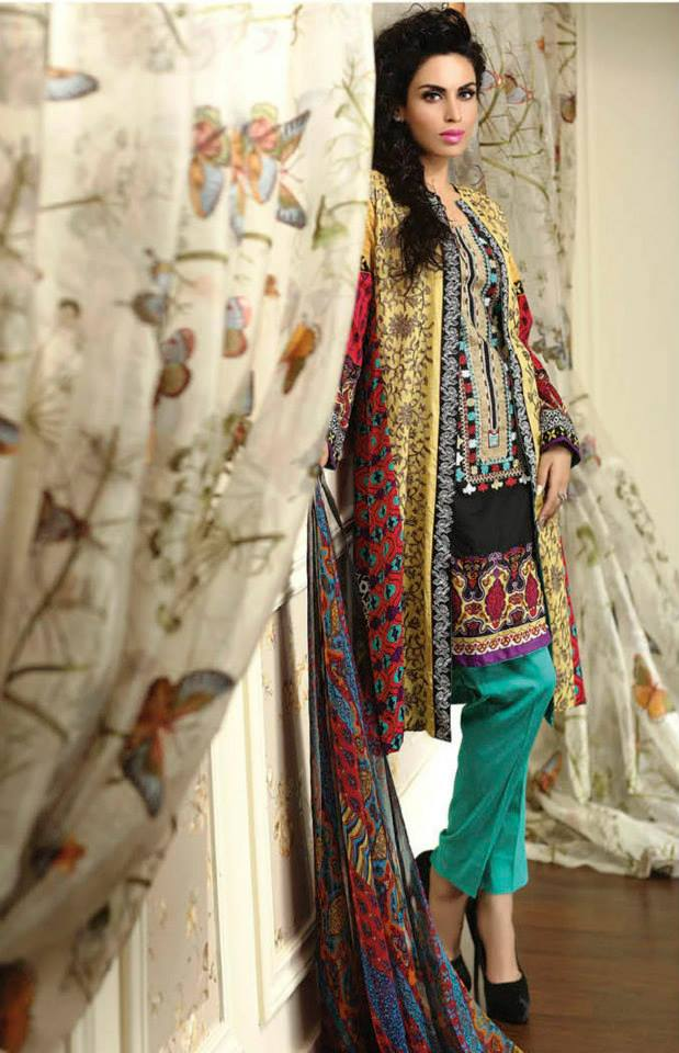 Ayesha chottani summer eid wear collection 2015 by Shariq textiles (27)