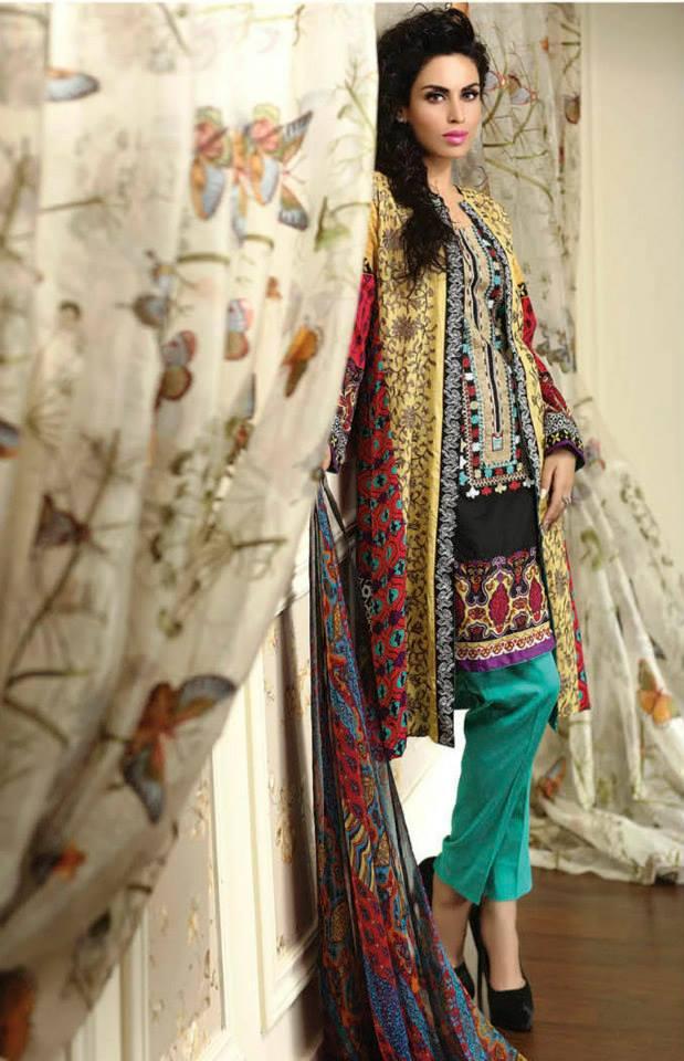 Ayesha chottani summer eid wear collection 2015 by Shariq textiles (27)