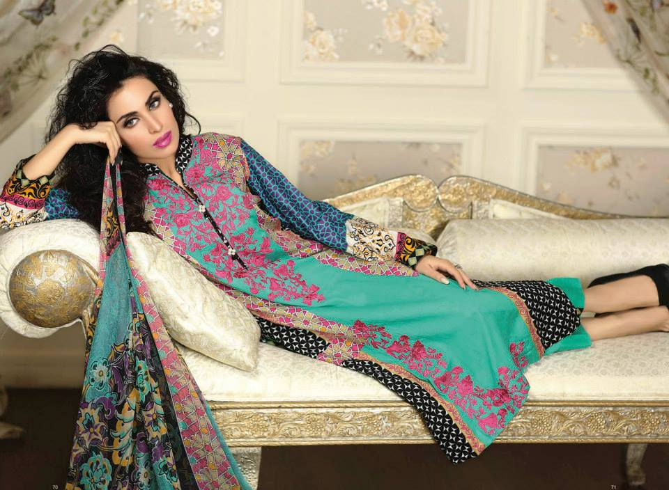 Ayesha chottani summer eid wear collection 2015 by Shariq textiles (3)