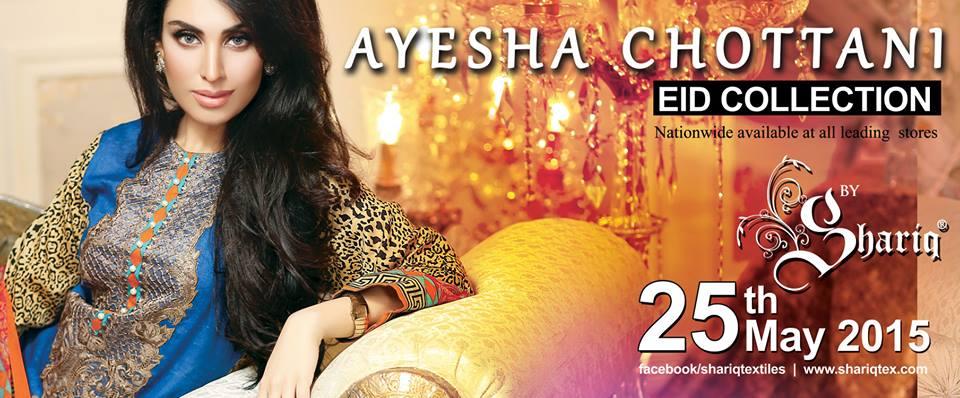 Ayesha chottani summer eid wear collection 2015 by Shariq textiles (32)