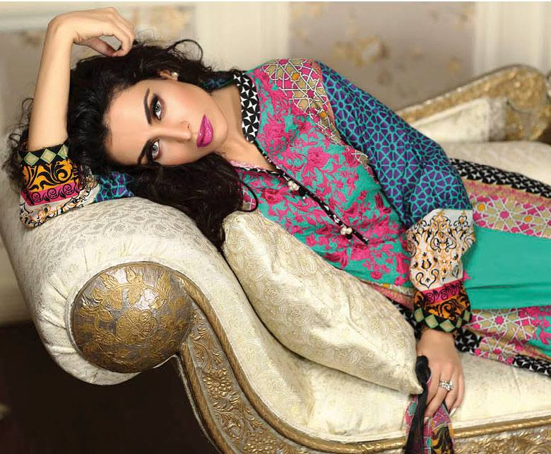 Ayesha chottani summer eid wear collection 2015 by Shariq textiles (5)