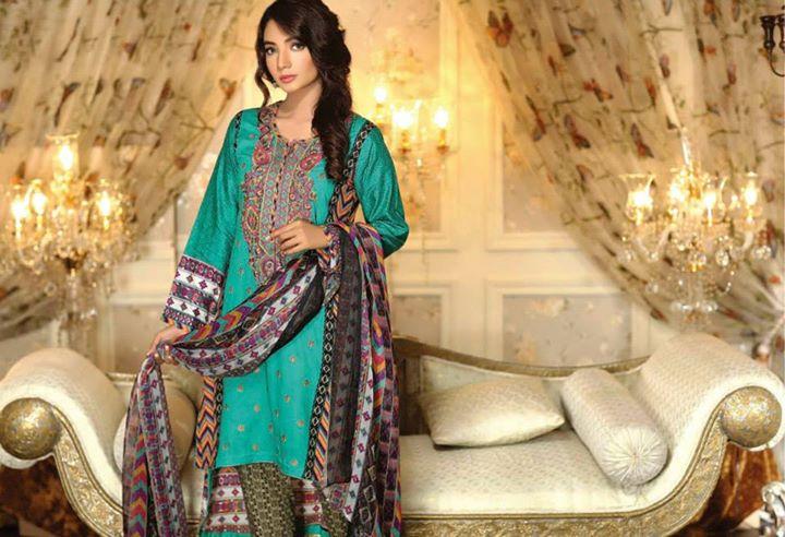 Ayesha chottani summer eid wear collection 2015 by Shariq textiles (6)