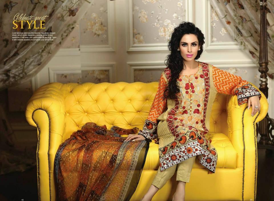 Ayesha chottani summer eid wear collection 2015 by Shariq textiles (9)