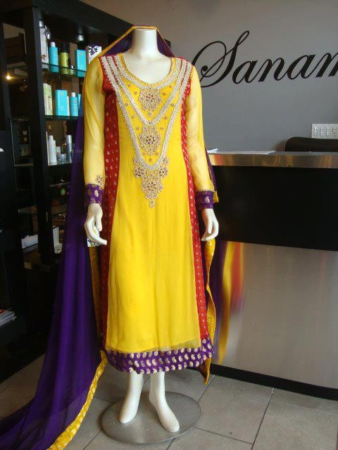Best Mehndi Dresses Designs Collection for Girls 2015-2016 (24)