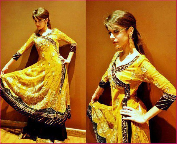 Best Mehndi Dresses Designs Collection for Girls 2015-2016 (30)