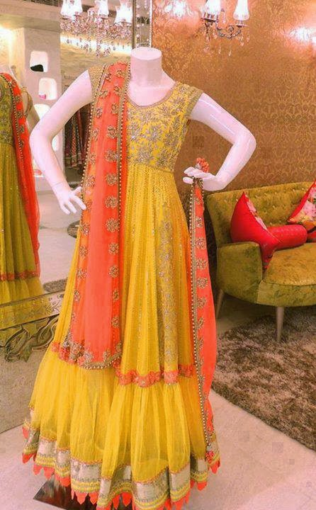 Best Mehndi Dresses Designs Collection for Girls 2015-2016 (31)