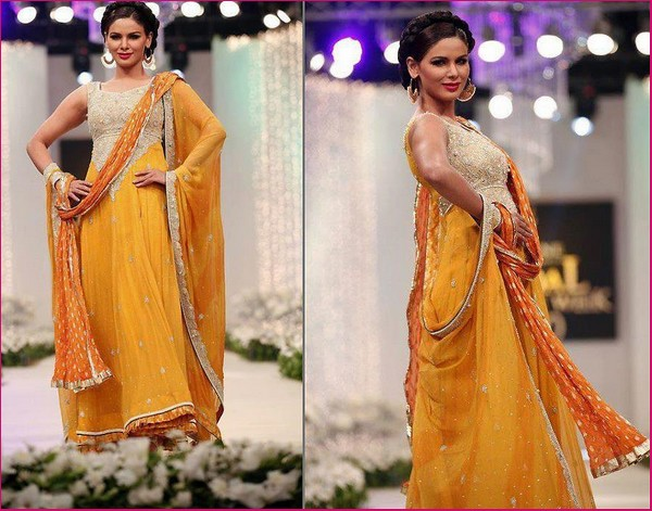 Best Mehndi Dresses Designs Collection for Girls 2015-2016 (33)