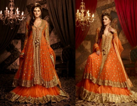 Best Mehndi Dresses Designs Collection for Girls 2015-2016 (34)