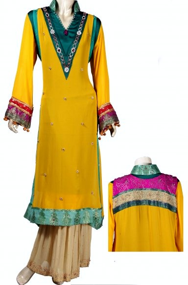 Best Mehndi Dresses Designs Collection for Girls 2015-2016 (4)