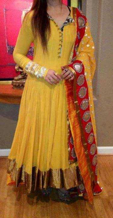 Best Mehndi Dresses Designs Collection for Girls 2015-2016 (40)