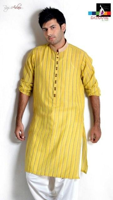 Mehndi Outfits For Guys : Men mehndi dresses designs kurta collection